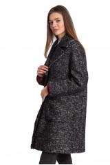 Пальто женское черное Luisa Cerano 2