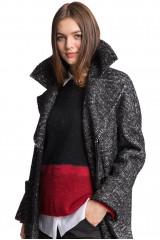 Пальто женское черное Luisa Cerano 7