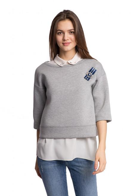 Пуловер женский с брошкой Kocca