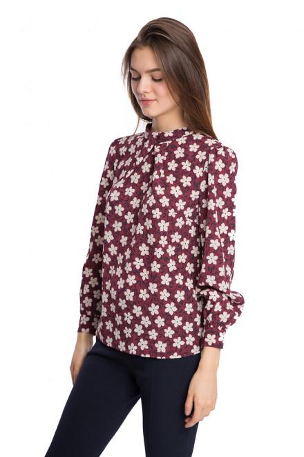 Блуза женская с длинным рукавом цвет бургунди Kocca