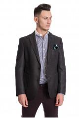 Темно-серый клетчатый пиджак Carl Gross