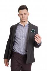 Темно-серый клетчатый пиджак Carl Gross 1