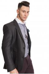 Темно-серый клетчатый пиджак Carl Gross 2
