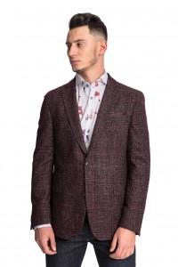 Бордовый клетчатый пиджак CG