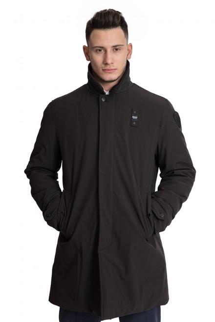 Куртка мужская черного цвета со шлицей свободного кроя  Blauer