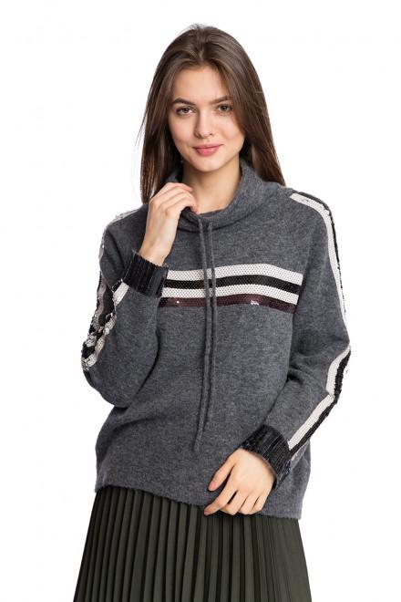 Пуловер женский серого цвета Luisa Cerano