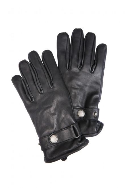 Перчатки мужские на резинке кожаные Lindberg