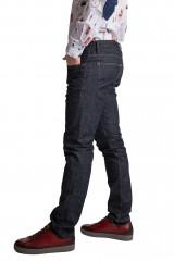 Штаны джинсовые мужские темно-синие зауженные со средней посадкой  Lindbergh