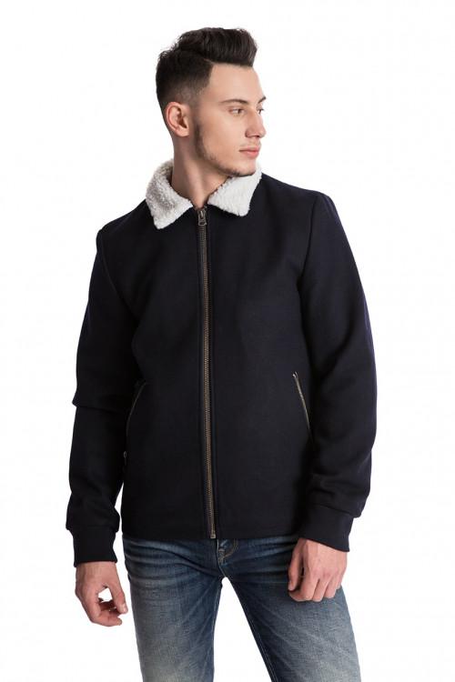 Куртка мужская черного цвета объемная укороченная Shine Original