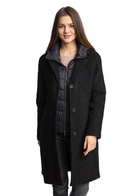 Пальто женское однобортное на три пуговицы темно-серое Reset