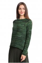 Пуловер женский зеленого цвета в полоску Sfizio