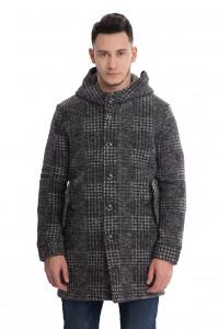Пальто мужское шерстяное с капюшоном Wool&Co