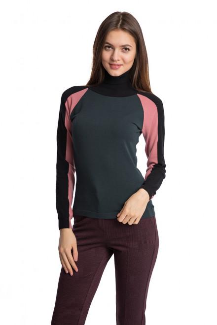 Пуловер женский с высоким горлом облегающий Beatrice B