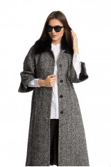 Пальто женское однобортное в рубчик Beatrice B