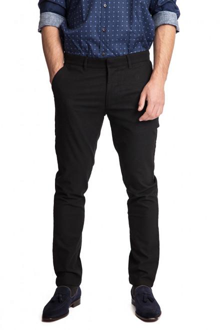 Штаны мужские черного цвета из хлопчатобумажной ткани Lindbergh