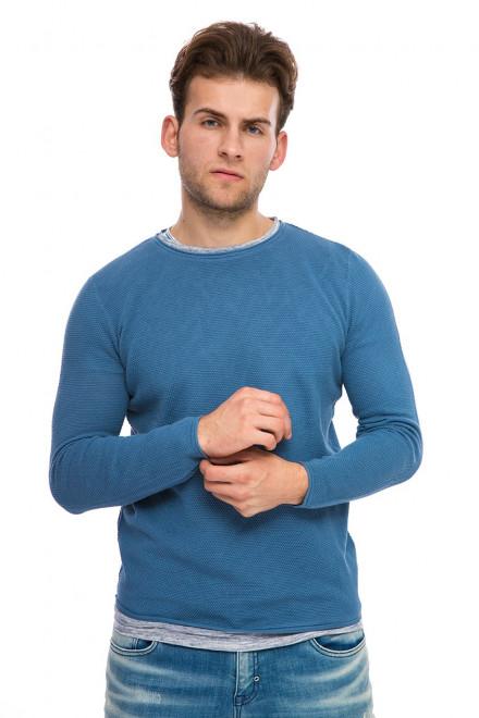 Пуловер мужской голубого цвета Antony Morato