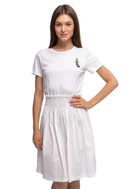 Платье с коротким рукавом и пышной юбкой Kocca