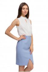 Платье женское на запах двухцветное Kocca