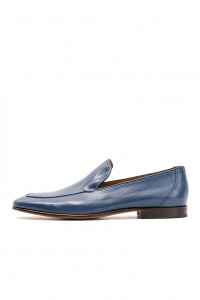 Туфли мужские синие лакированные DN8 by Moreschi