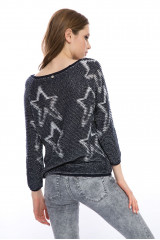 Пуловер женский синий Rich&Royal 5
