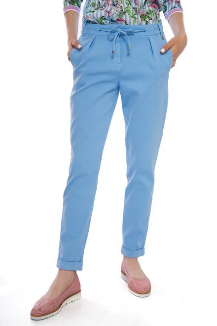 Брюки женские на кулиске со шнурком голубые Rich&Royal