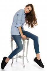 Голубые женские джинсы Rich&Royal 7
