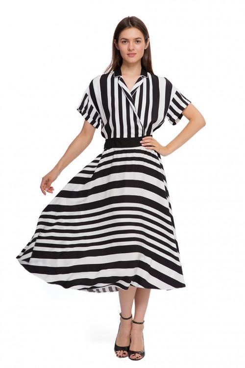 Платье женское в полоску Sfizio