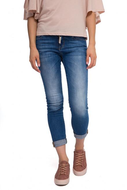 Джинсы скинни женские с искусственной потертостью Staff Jeans