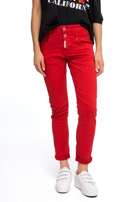 Брюки женские узкие красные Staff Jeans