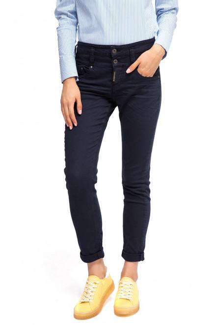 Брюки женские узкие темно-синие Staff Jeans